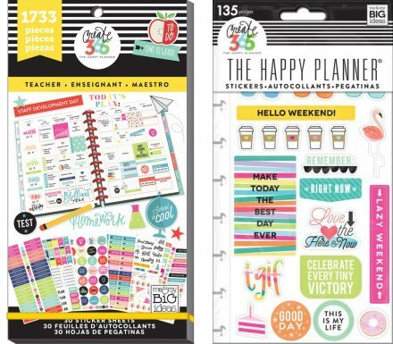 Create 365 Happy Planner Value Pack and TGIF Snap-In Pack (Set of 2 items) (Teacher, 1733 Stickers) by Create 365 (Image #1)