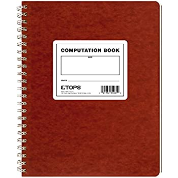 TOPS Computation Book, 11.75 x 9.5 Inches, Double Wire, 152 Numbered Pages, Quadrille Ruled, 76 Sheets, Buff, (35061)
