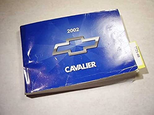 2002 chevrolet cavalier owners manual unknown amazon com books rh amazon com 2003 Cavalier 2001 Cavalier