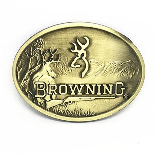 Mens Hunting Western Deer Emblem Buckmark Belt Buckle (Deer Emblem)