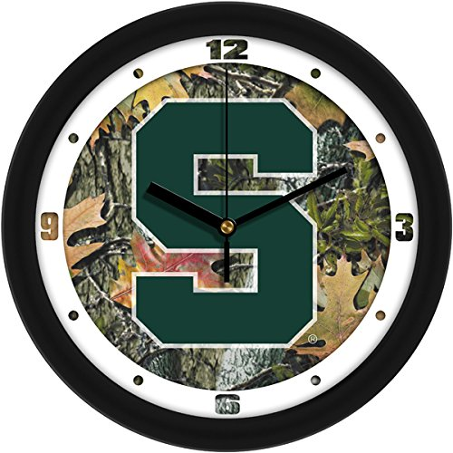 n State Spartans Wall Clock - Camo ()