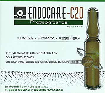 ENDOCARE C20 PROTEOGLYCANS 30 AMPOULES x 2 ml SCA 20 Beauty Skincare