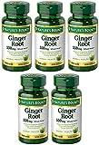Ginger Root 550 mg, 5 Bottles (100 Capsules)