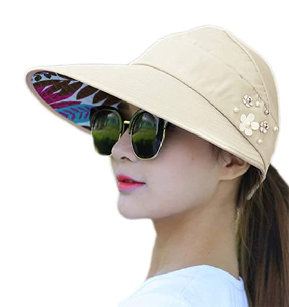 HX fashion Gorros Sombrero De Sol para Mujer Sombrero De Playa Sombrero  Basic De Viaje De  Amazon.es  Ropa y accesorios 31544a12cd5a