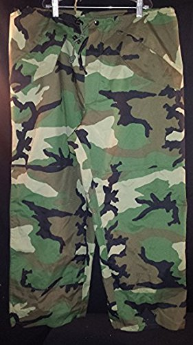 General Issue ECWCS GORE-TEX Trouser wet weather, Woodland Camo, (X-Large Long) (Camouflage Trouser)