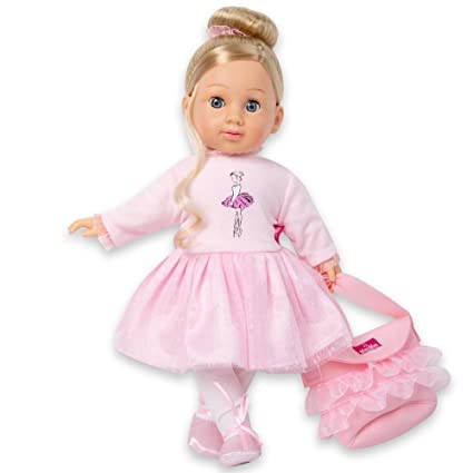 Amazon Com 16 Soft Body Baby Doll With Blond Hair Gray Eyes Girl S