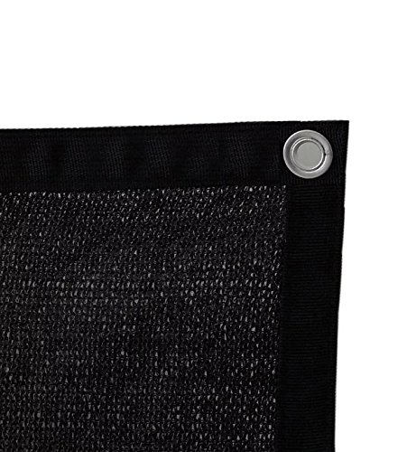 Shatex 90% Black 12x16ft New Design Sun Shade Privacy Panel with Grommets -UV Resistant fabric for patio/pergola/RV (Knitted Shade Panel)