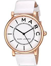 Womens Roxy Quartz Stainless Steel and Leather Casual Watch, Color:White (