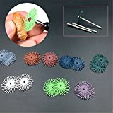 16pcs Radial Bristle Disc Brush Polisher + 4