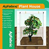 Agfabric Plant Cover Warm Worth Frost Blanket - 0.95 oz Fabric of 135''x120''x48'' Shrub Jacket, 3D Cube Plant Cover with Zipper for Season Extension&Frost Protection