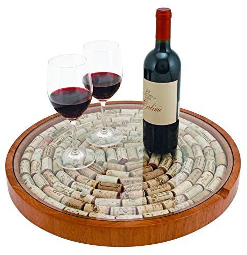 True 2673 Lazy Susan Cork Display Home and Farmhouse, Wine Bottle Accessory and Barware Decoration, Set of 1