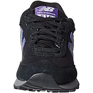 New Balance Women's 515 V1 Sneaker, Black/Prism Purple, 5 W US