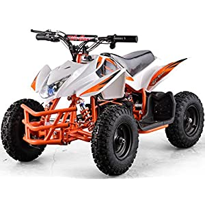 Outdoor Kids Children Titan 24V White Mini Quad ATV Dirt Motor Bike Electric Battery Powered