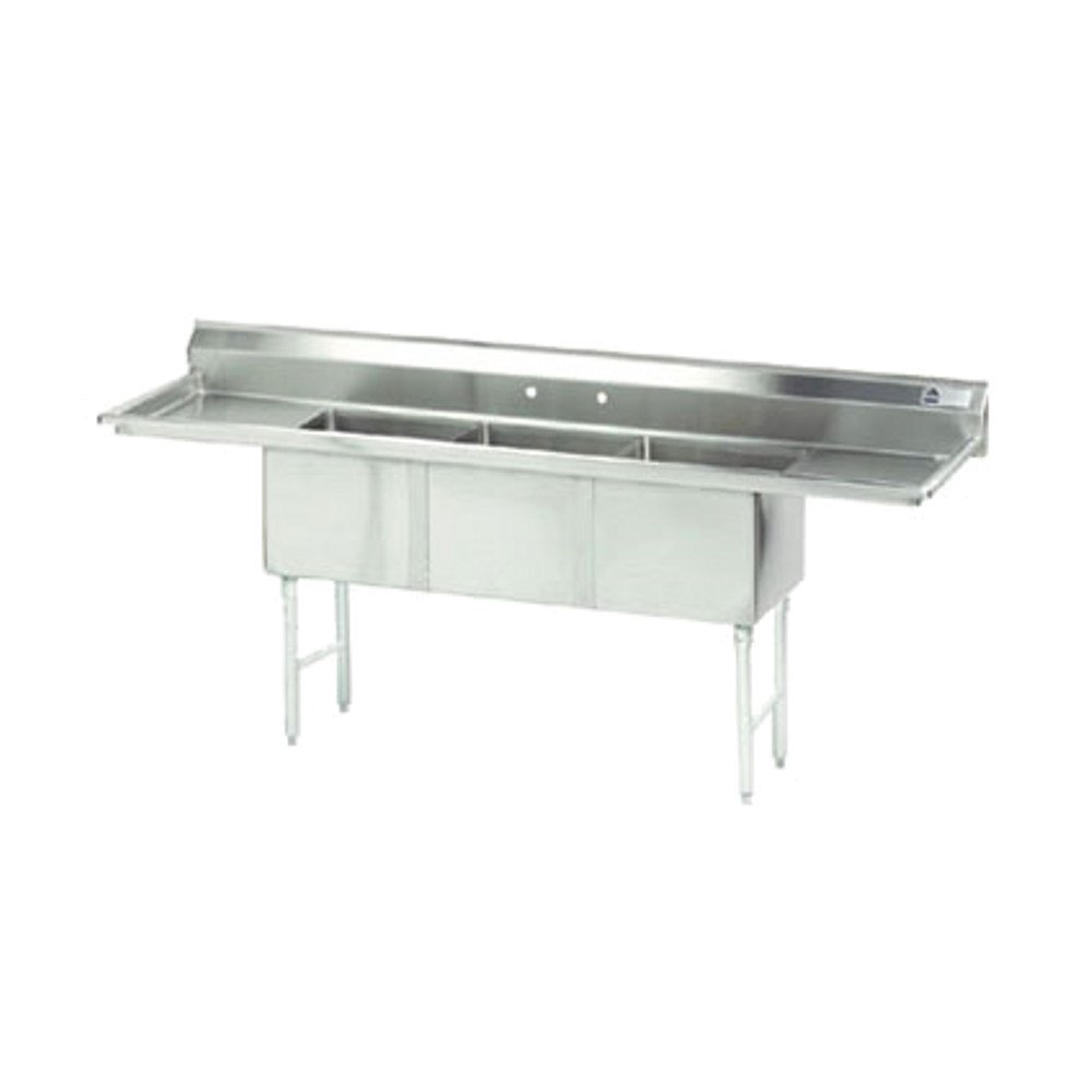 Advance Tabco FC-3-2424-24RL 24'' x 24'' 3 Compartment Sink