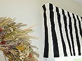 Striped Black & White Window Valance For Sale
