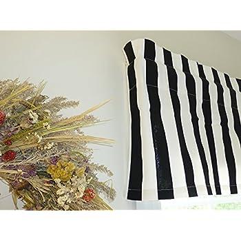 striped black u0026 white window valance