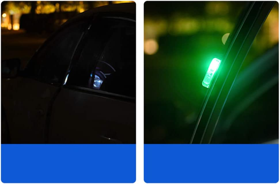 Took09 Car LED Door Anti-collision Warning Light Safety Flash Induction Light White-right door