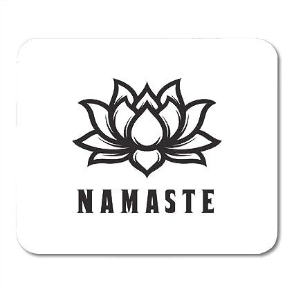 Amazoncom Mouse Pad Namaste Sign Hello In Hindi Lotus Flower