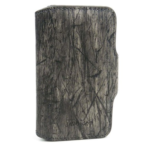 JAVOedge Lumberjack Book Case for Apple iPhone 4/4S (Black)