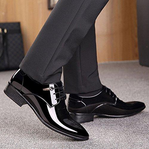 en Hommes pour Cuir LEDLFIE LEDLFIE Chaussures Véritable Chaussures Black qwwtHSv