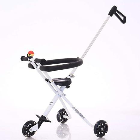 Tres ruedas Cochecitos Carro de bebé,Doble pedal del cochecito de bebé portátiles Apto para