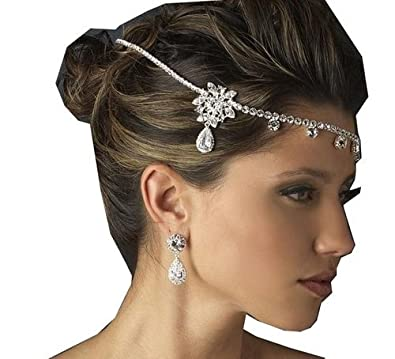 Wedding Crown Crystal Rhinestone Headdress Necklace Classic Jewelry Party