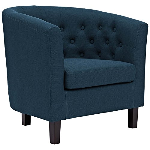 Modway  Prospect Upholstered Fabric Contemporary Modern Accent Arm Chair Azure