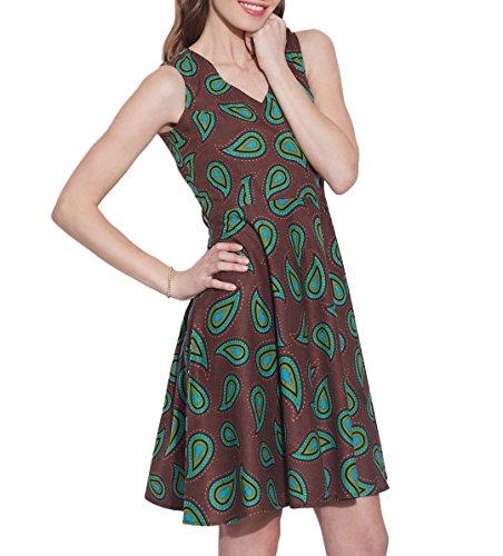 Femmes Apparels Robe en coton imprimé, lavable en machine, W-CPD36-1627, Taille-36 pouces