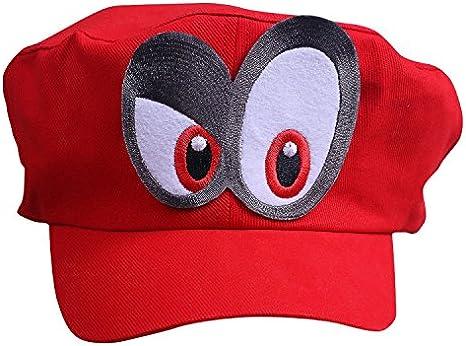 Super Mario Beanie ODYSSEY ROJO con los ojos DERECHO para para ...