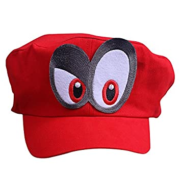 f63270719dc5 Super Mario Beanie ODYSSEY ROJO con los ojos DERECHO para para adultos y  niñoss y niños Carnaval Disfraz Disfraz Gorros Sombrero Cap Gorra para ...