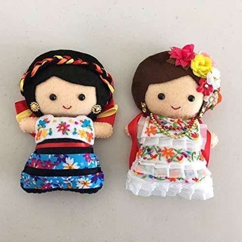 Imán Decoración Muñecas Vestido Regional Mexicano Amazon