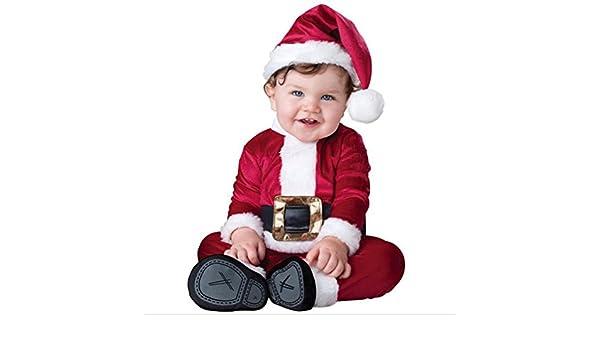 WildestDream Los Ni?s Infantil Beb?Muchachas Muchachos Mono Manga Corta Mamelucos Rojos Navidad Sombrero Juego: Amazon.es: Bebé