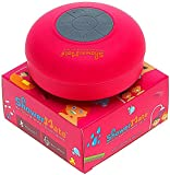 ShowerMate Wireless Speaker | Water-Resistant Shower Radio with Hands-Free Speakerphone and Built-in Mic | Compatible with All Devices - Pink