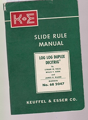 Slide Rule Manual Keuffel and Esser Co ()