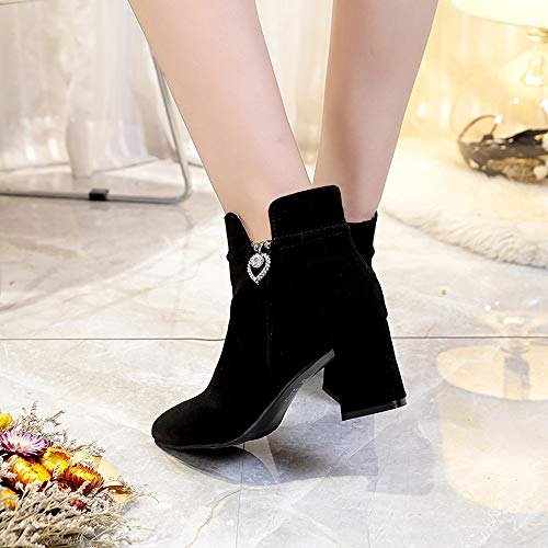 Botines Casual del alto talón elegante mujer,Sonnena ❤ Zapatos Casuals de mujer Casual Boots Longitud del tobillo Botas de cremallera de tacón alto: ...