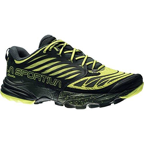La Sportiva Hombres del Akasha Trail Running Shoe Negro/Azufre