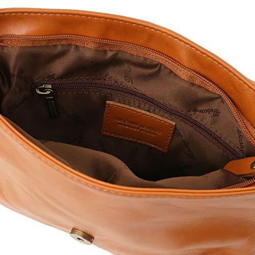 Cognac Y Tuscany Con Bolso En Borla Bandolera Tl Piel 2 Soave Tl141223 Bag Negro Leather 6q6Bz