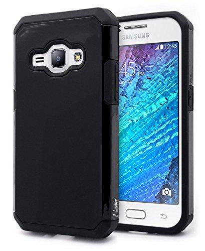 Galaxy Luna / Express 3 / Amp 2 / J1 2016 Case, NageBee Design Premium Heavy Duty Defender Dual Layer Protector Hybrid Case for Samsung Galaxy Luna / Amp 2 / Express 3 / J1 2016 - Black