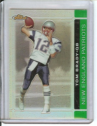 Football NFL 2007 Finest Green Refractors #8 Tom Brady /199 Patriots by tom brady