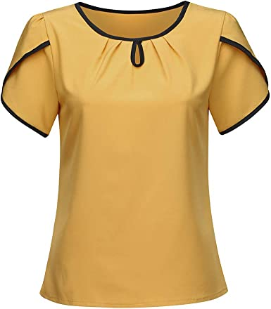 Ropa Camisetas para Mujer, Blusas Camisetas de Gasa Ropa de ...