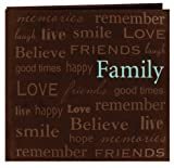 Pioneer 12-Inch by 12-Inch Text Faux Suede Scrapbook, Family