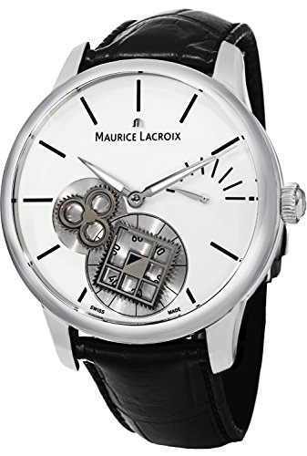 Maurice Lacroix Masterpiece Square Wheel Vintage Men's White Dial Power Reserve Mechanical Swiss Made Watch MP7158-SS001-101