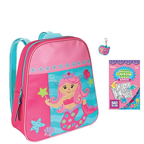 Stephen Joseph Girls Mermaid Backpack and Zipper Pull with Coloring Activity Pad