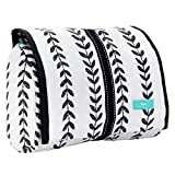 SCOUT BEAUTY BURRITO Large Hanging Toiletry Bag for Women, Travel Cosmetic and Toiletries Organizer with Elastic Band Closure (Multiple Patterns Available)