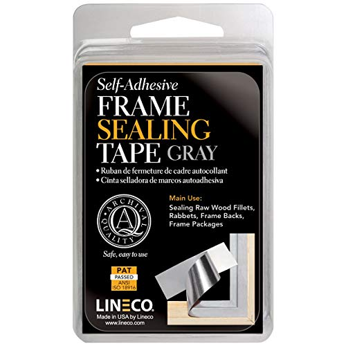 - Lineco Frame Sealing Tape Gray 1.25 Inches X 24 Feet