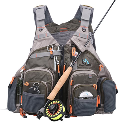 Maxcatch Fly Fishing Vest Mesh Vest Free (Loop Fly Rod Top)