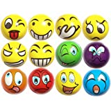 ZtuoYong Upgrade 12pcs Emoji Soft Foam Ball Stress Reliever Ball for Adults and Children, Novelty Toy for Party Supply of Assorted Colour and Funny Style