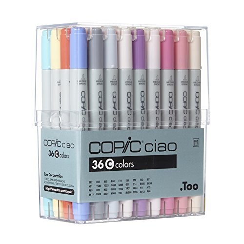 Copic I36C Ciao Markers Set C, 36-Piece by Copic Marker