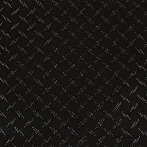 LVG InterCal Specialty Films - 12'' x 50yd - Black Diamond Plate - Peel and Stick Cutting Film with Removable Backing Paper - 74 Variations to Choose From by LVG InterCal