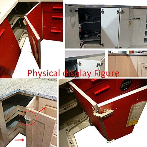 Gobrico Kitchen Cabinet Folding 135 Degree Hinge 1 Pair